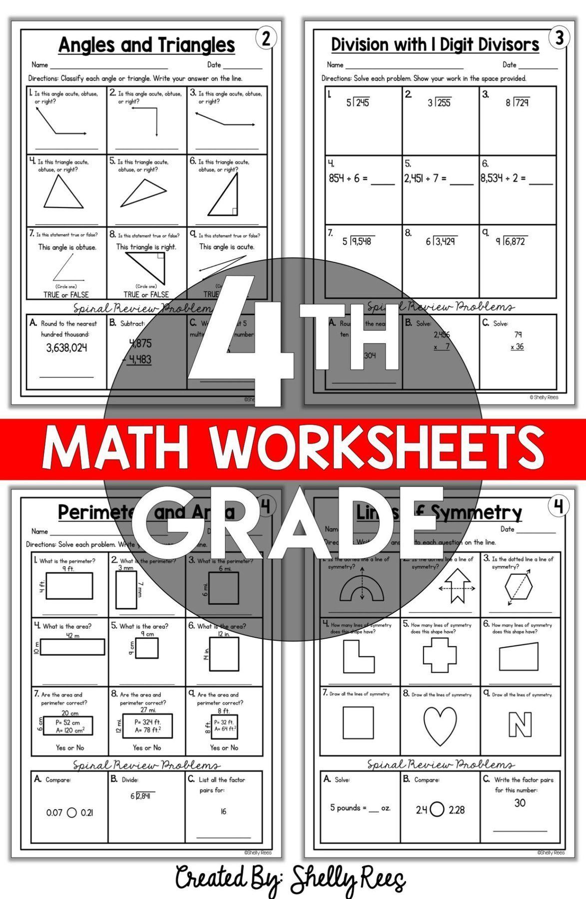4th Grade Math Worksheets Free and Printable - Appletastic Learning   4th  grade math worksheets [ 1800 x 1173 Pixel ]