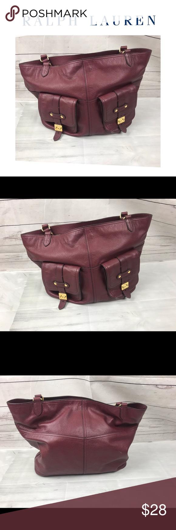 Ralph Lauren Vegan Handbag Ralph Lauren Vegan Handbag. Measures 19x14. In  great shape! 1de9875fda