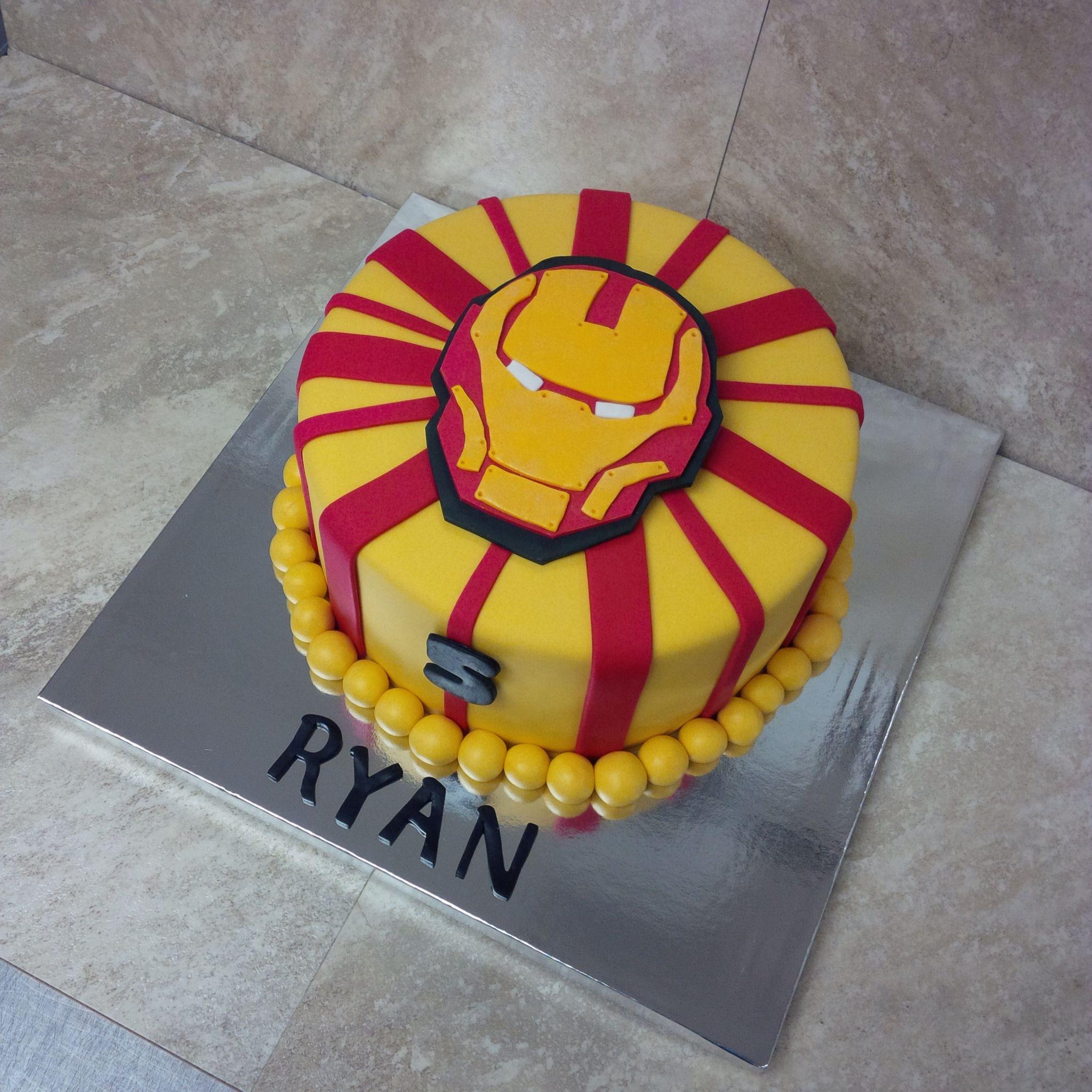 Iron man cake iron man party ironman cake batman cake