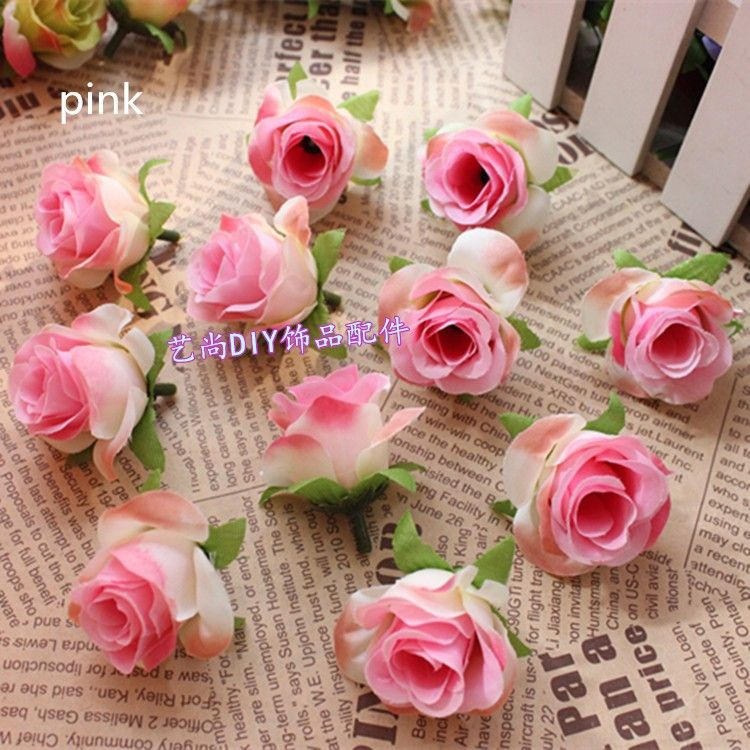50pcslotartificial silk flower heads double color roses head 50pcslotartificial silk flower heads double color roses head wedding decoration fake junglespirit Image collections