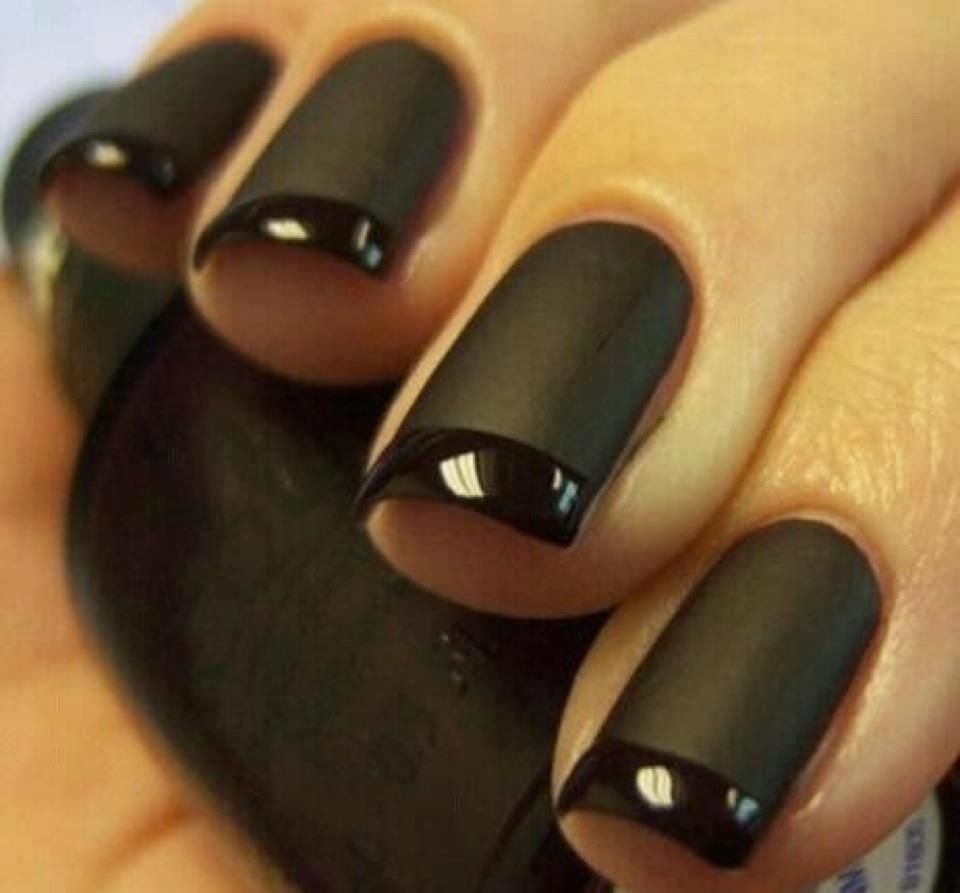 OK, finally a way to wear that matte black nail polish I bought that ...