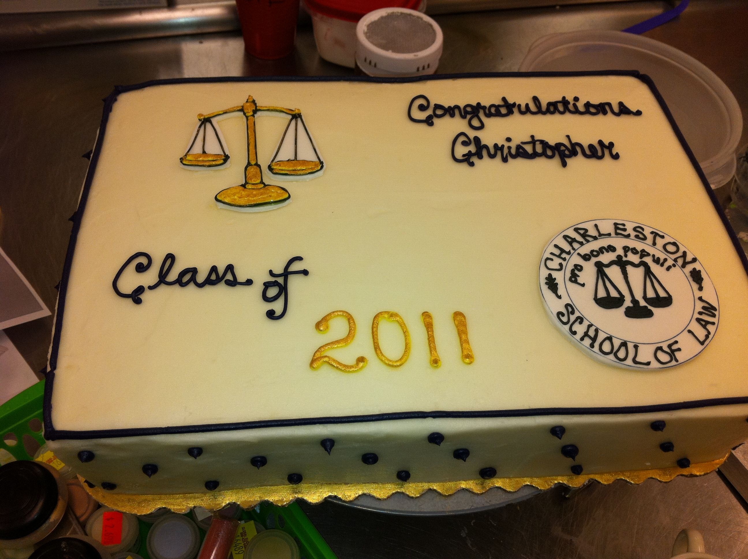 Law School Graduation Cake With Images Law School Graduation