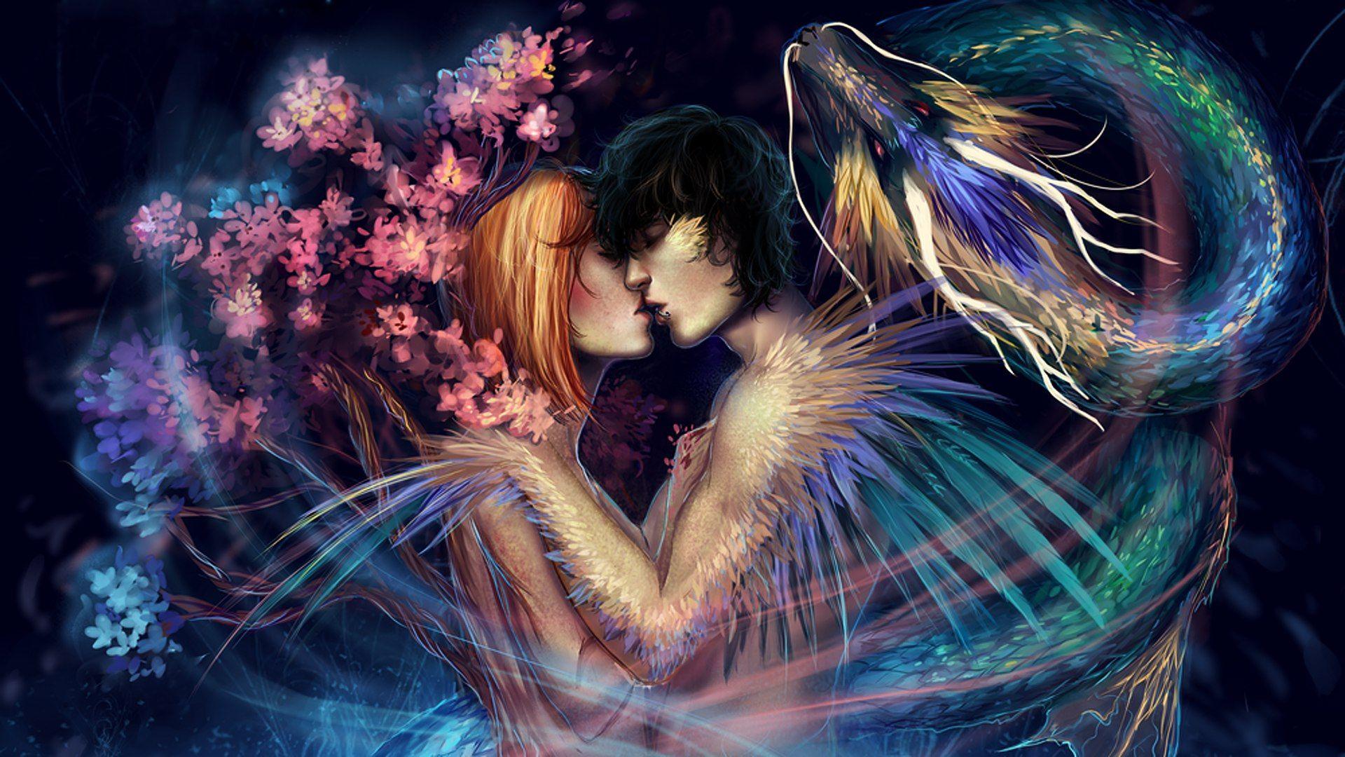 Картинки пара влюбленных фэнтези