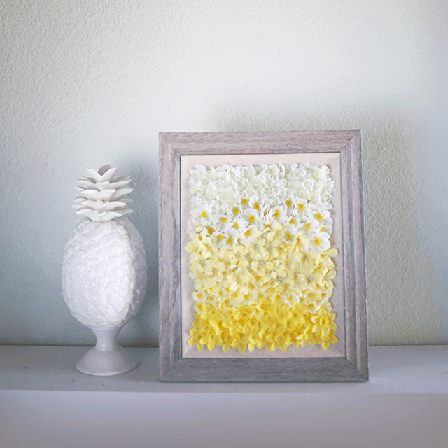 Incredibly Beautiful DIY Ombre Floral Wall Art | Todoski | Pinterest ...