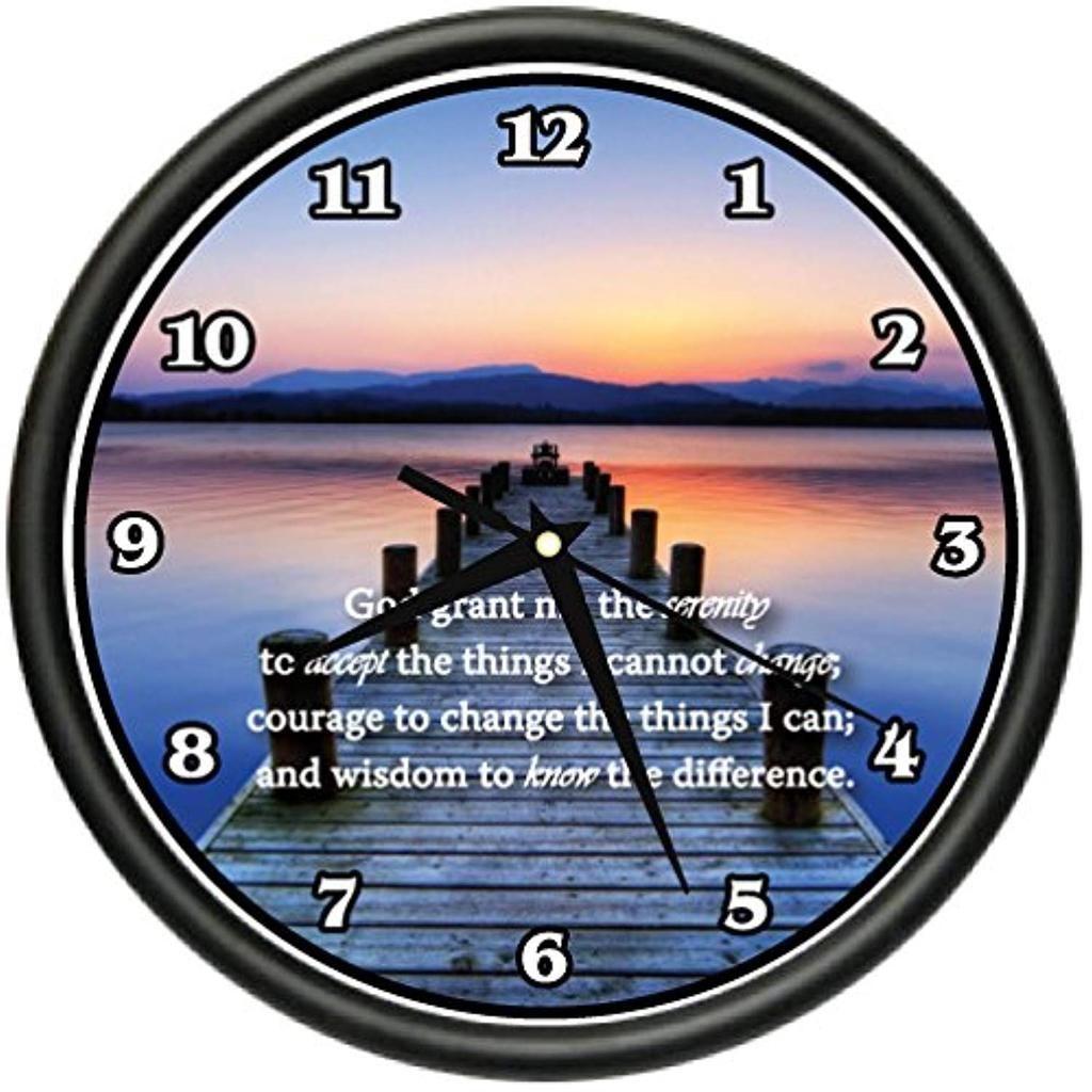 Inspirational Serenity Prayer Wall Clock