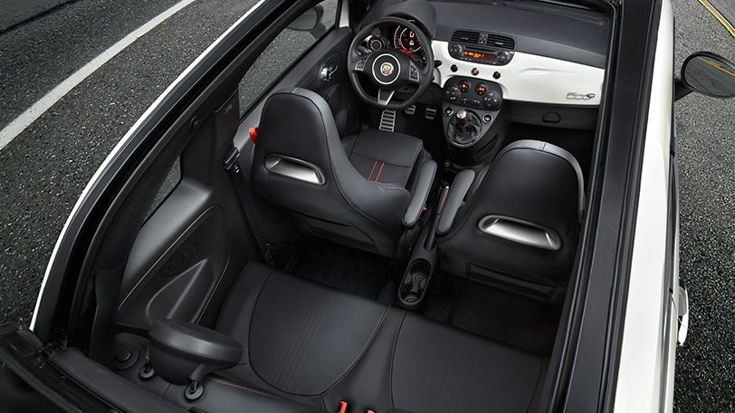 The Fiat 500 Abarth Features Luxurious High Back Performance