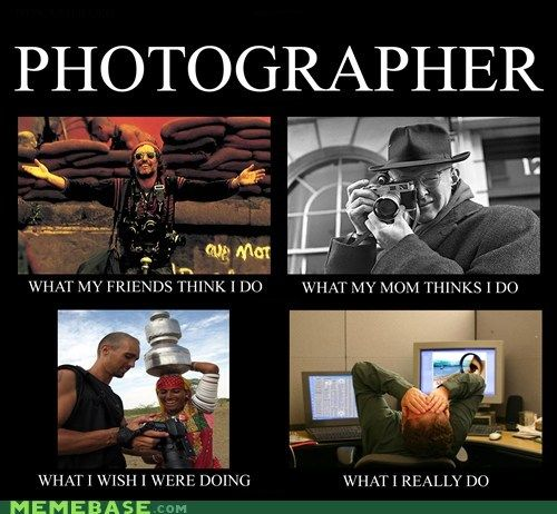 Photographer: What You Think I Do / What I Really Do