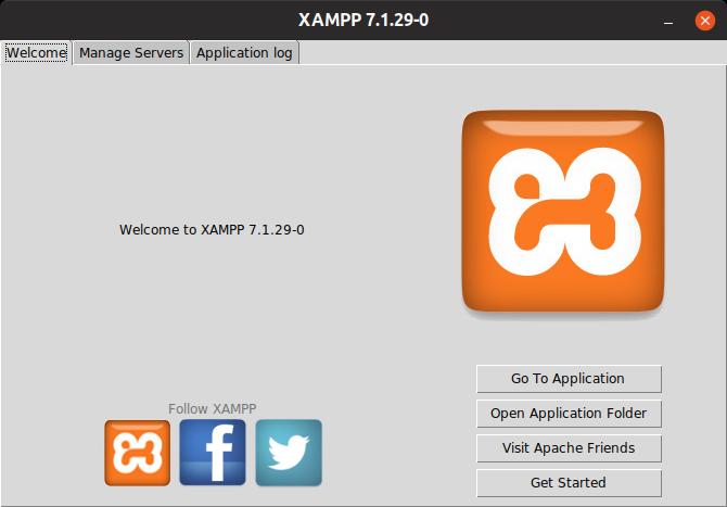 Xampp Welcome Screen Linux Software Open Source