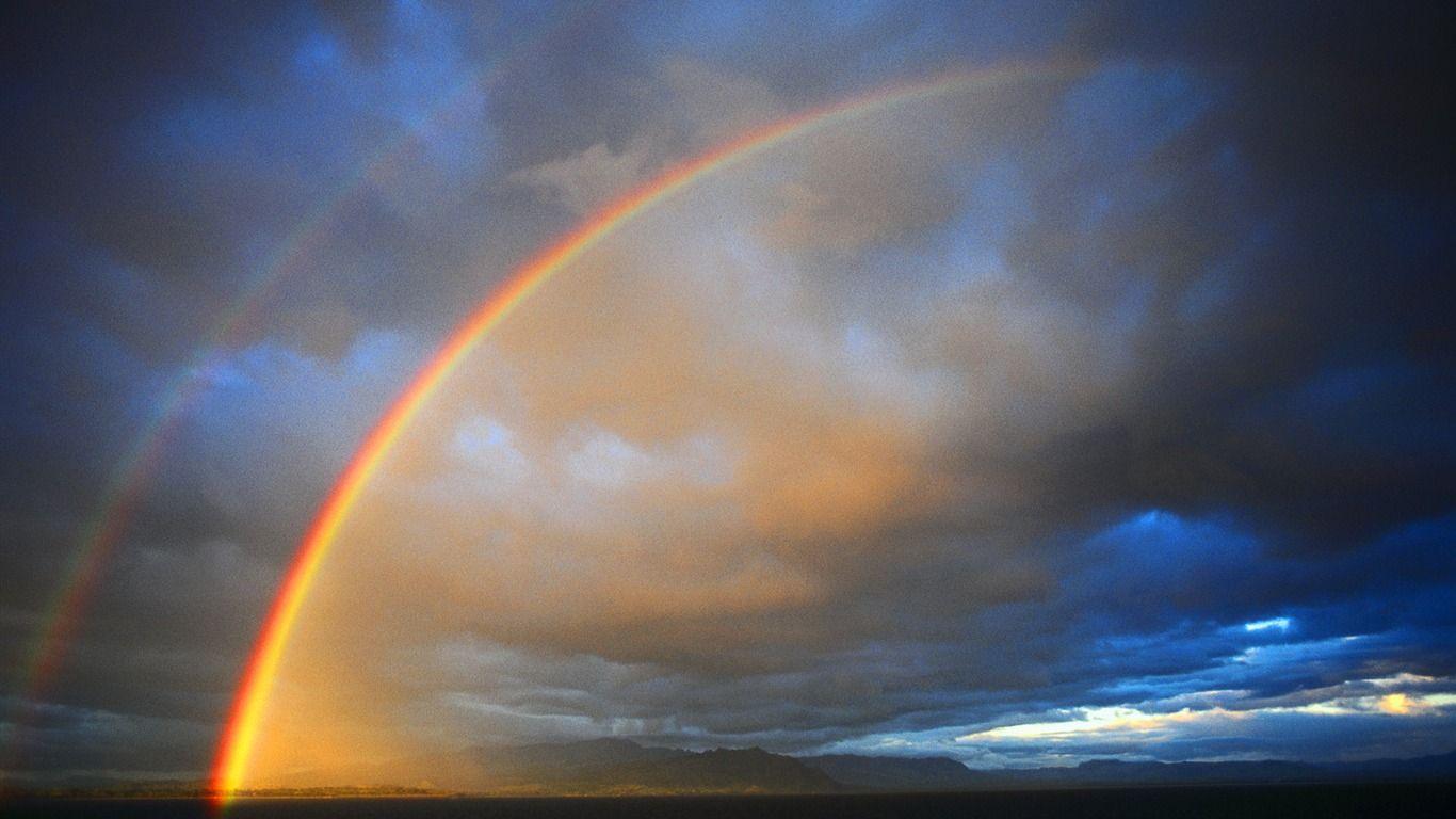 Rainbow After The Rain Wallpapers 1366x768 Iwallhd Wallpaper Hd Rain Wallpapers Rainbow Water Rainbow After The Rain