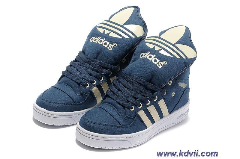 Cheap Adidas X Jeremy Scott Big Tongue Shoes Blue White Sports Shoes Shop