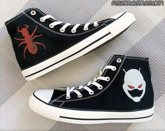 768850b3ad01 Antman Custom Converse   Painted Shoes by FeslegenDesign on Etsy ...