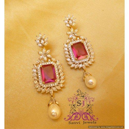 Elegant Marquise & Pearl Earrings
