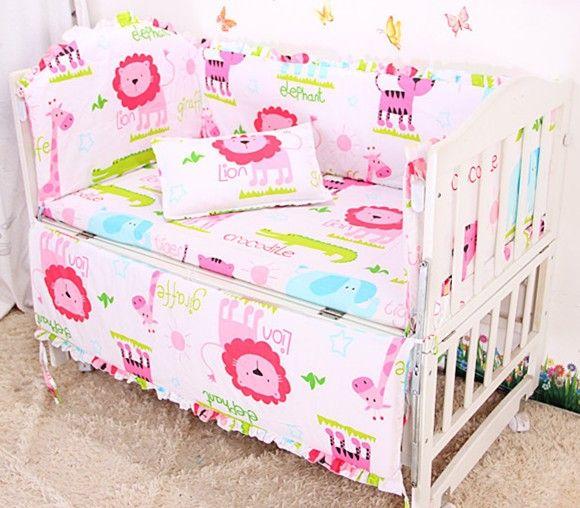 0dbca5cf09f 6PCS Baby crib bedding set 100% cotton crib bumper sheets baby bedding set