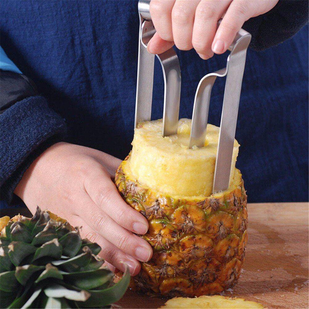 Edelstahl Ananas Corer Slicer Cutter Peelers Küchenhelfer Obst