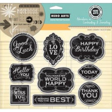"Hero Arts Stamp Your Story - Good Luck 6""x8"" Cling Stamp Set AC034 - Craftie-Charlie"