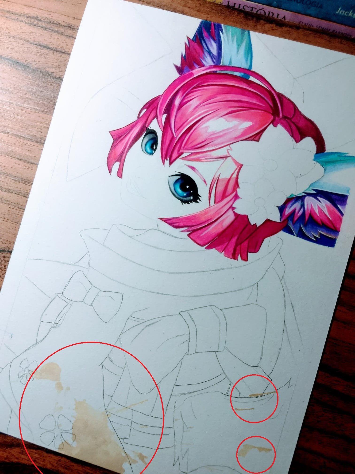 I Dropped Coffee On My Drawing Nana Mobile Legends Sketsa