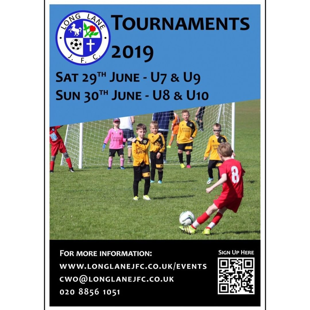 Long Lane JFC summer football tournaments For under 7s 8s 9s