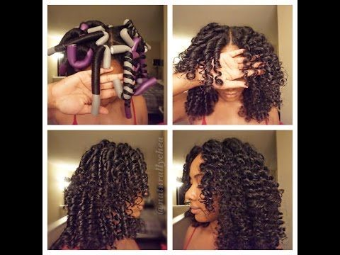 How To Roll Flexi Rods On Natural Hair Hair Styles Curly Hair Styles Curly Hair Styles Naturally