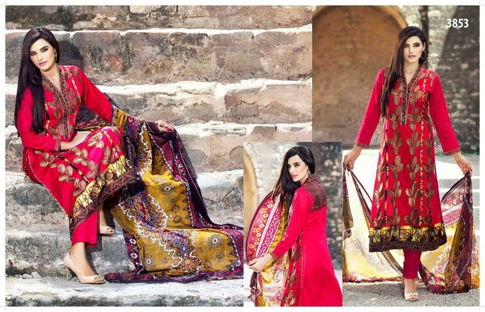 ba769d7e8b Latest designs swiss lawn dresses presented by Tawakkal Fabrics ...
