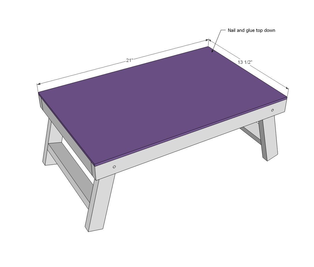 Diy overbed table - Ana White Build A Folding Lap Desk Free And Easy Diy Project And Furniture