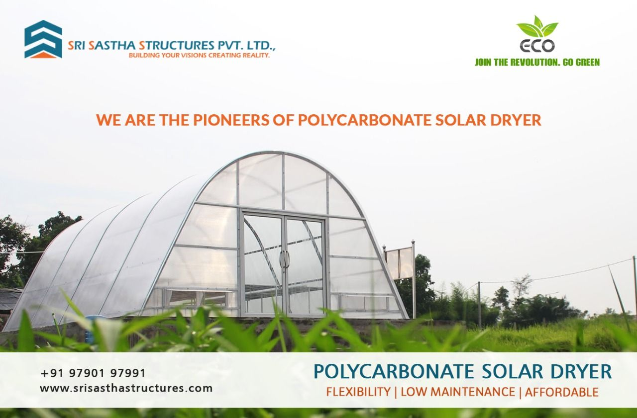 Polycarbonate Solar Dryer In 2020 Best Roofing Company Pre Engineered Buildings Industrial Roofing