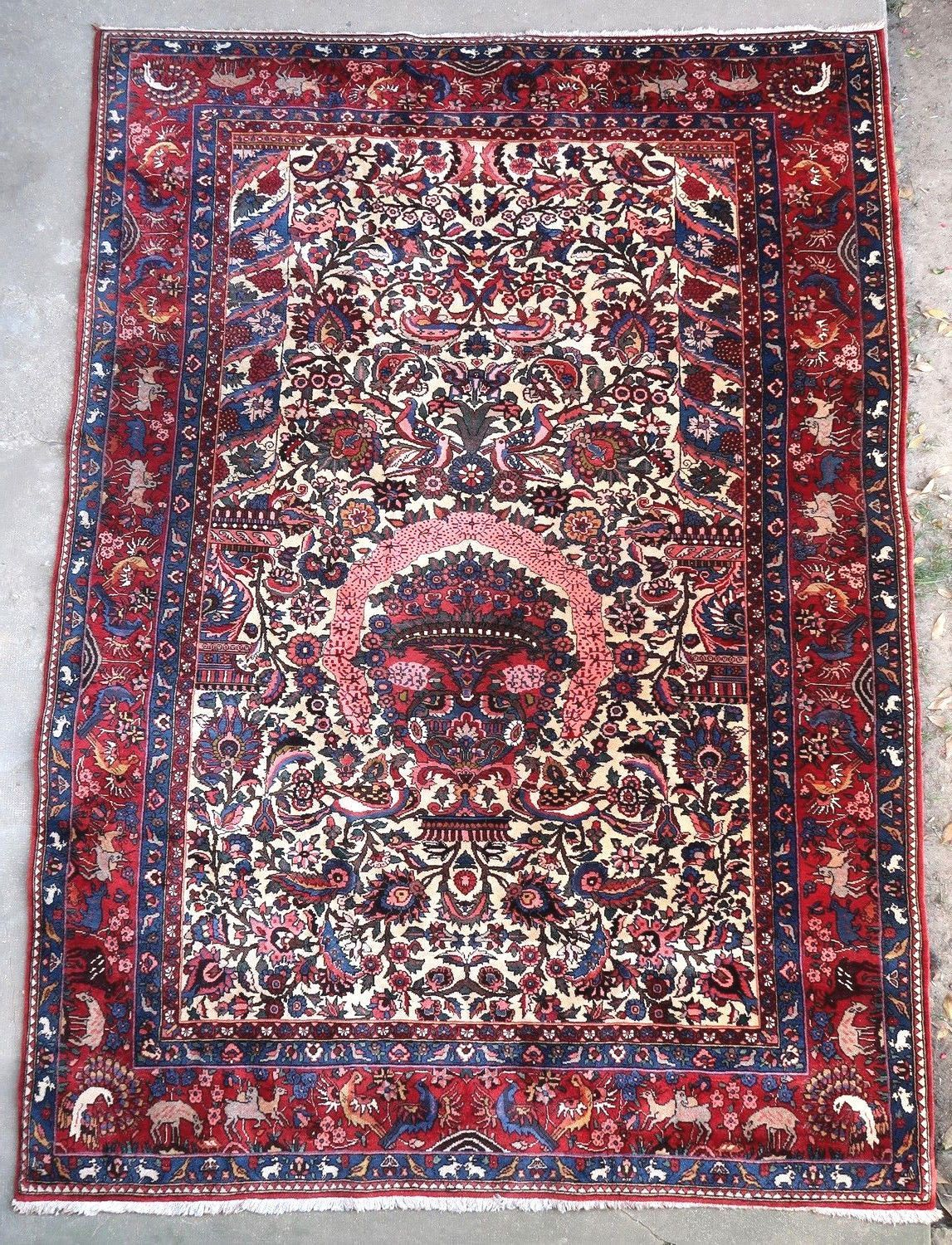 Antique Persian Rug Bakhtiari 1950 By Doux