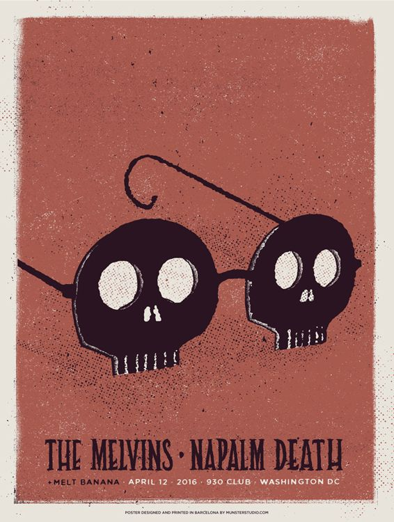 Melvins + Napalm Death poster on Behance