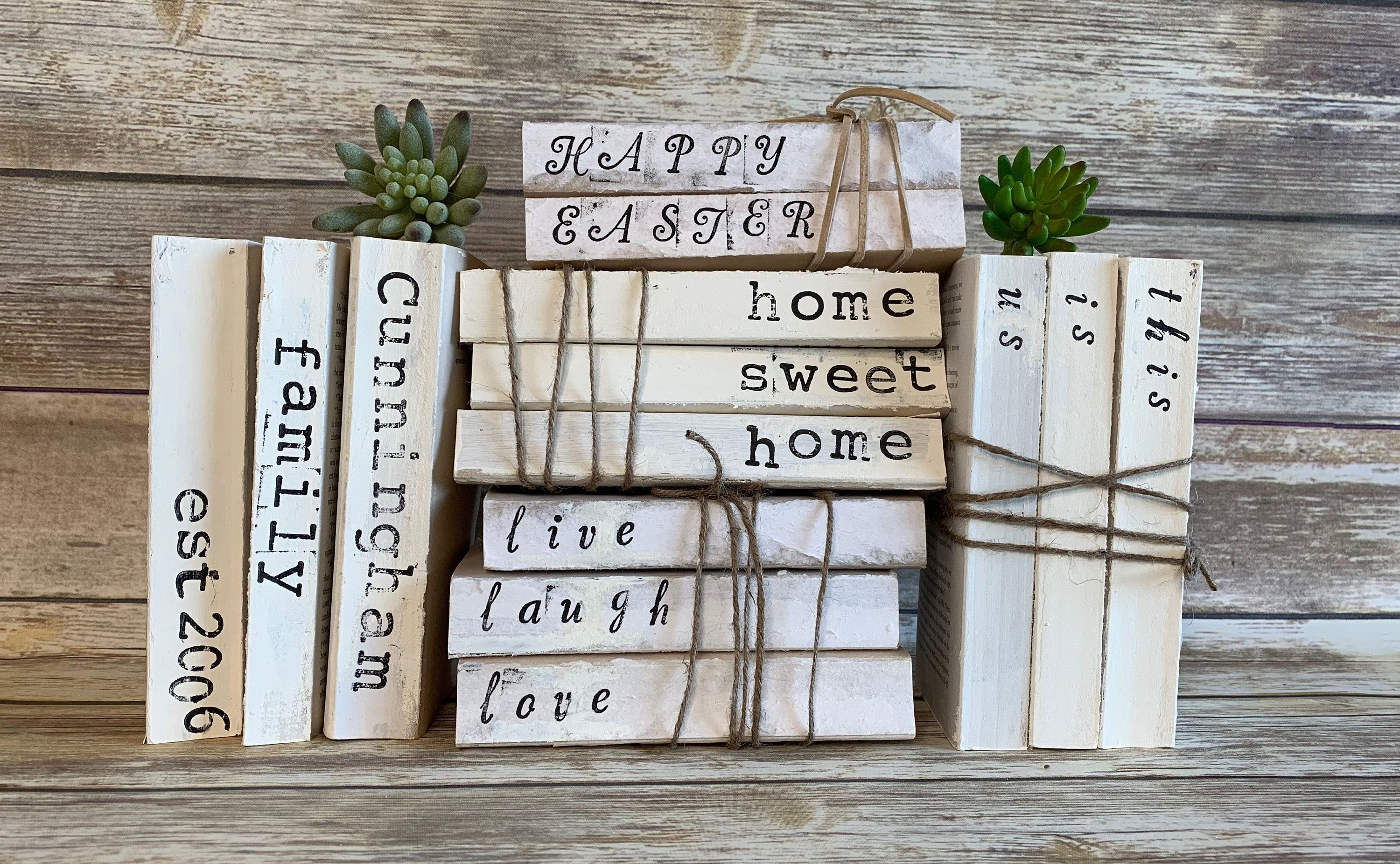 Personalized Stamped Books