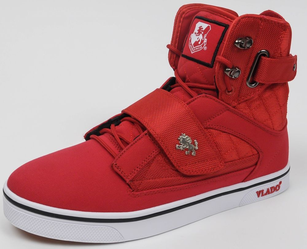 VLADO MEN/'S SHOES RED//GOLD LIFESTYLE *NEW* ALL SIZES