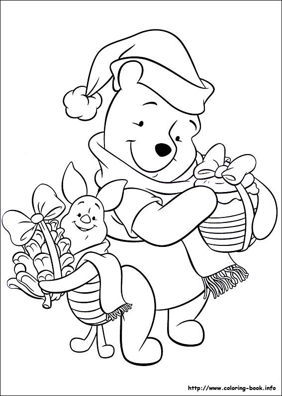Christmas Friends coloring picture is part of Disney coloring pages -
