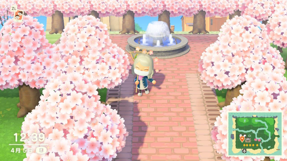 I Made Custom Paths That Fit The Cherry Blossom Theme Can T Wait For The Sakura Flower Rain On 4 7 Animal In 2021 Cherry Blossom Theme Sakura Flower Cherry Blossom
