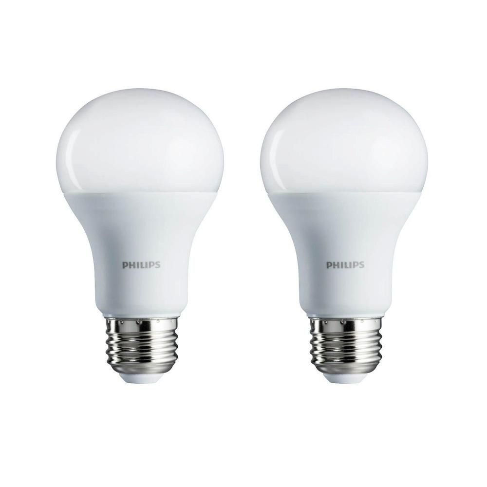 Philips 100 Watt Equivalent A19 Non Dimmable Energy Saving Led Light Bulb Daylight 5000k 2 Pack 462002 The Home Depot Led Light Bulb Light Bulb Bulb