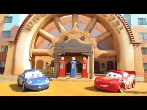 Disney's Art of Animation Resort Cars Section Detailed Tour - Walt Disney World w/Mater, Lightning McQueen, Ramone - Pixar Themed