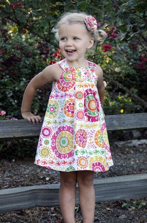 Harper Dress girl\'s PDF sewing pattern, easy pattern, child sewing ...