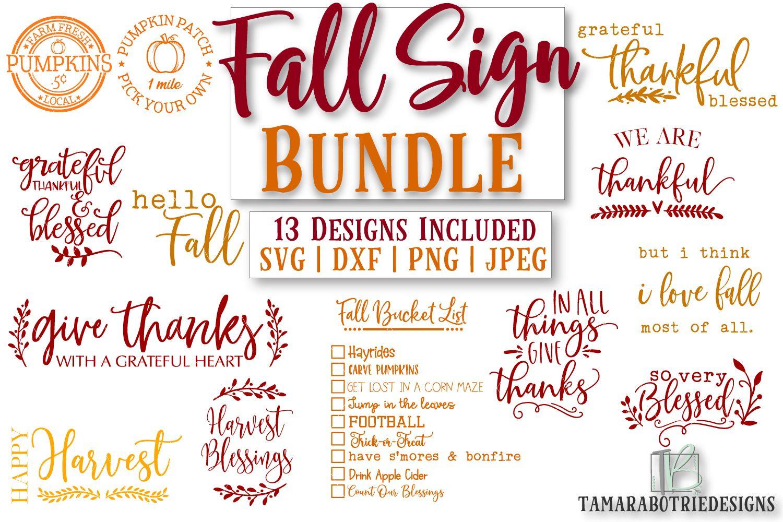 Fall Sign SVG Bundle, Fall SVG, Autumn SVG Fall signs