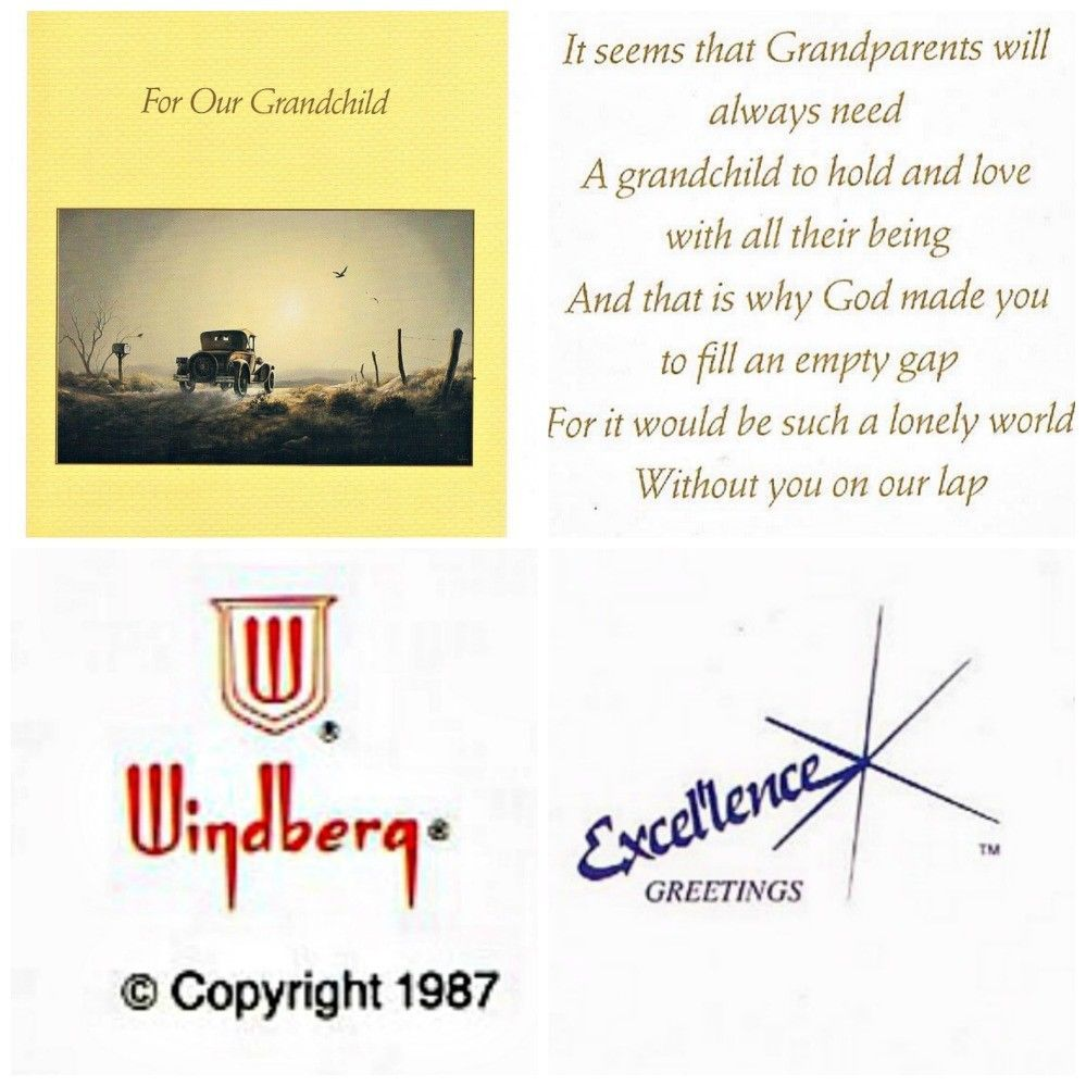 2 Vintage Greeting Cards For Our Grandchild Birthday Or Any Occasion