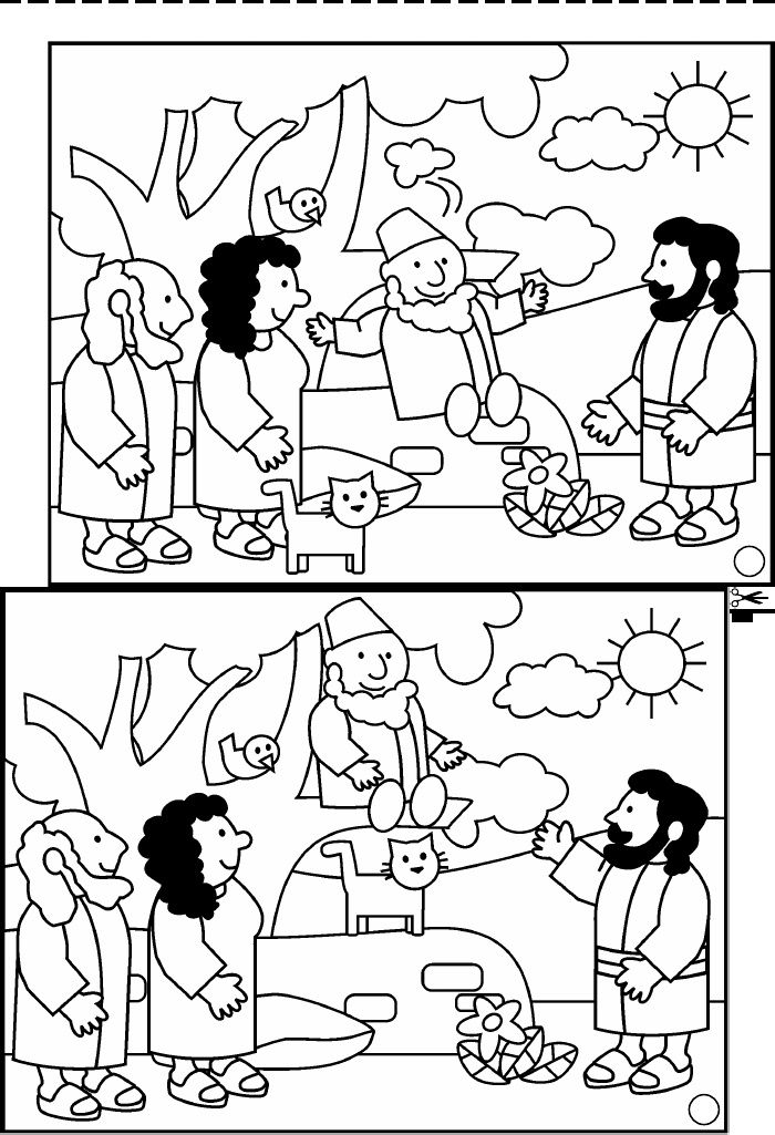 Zacchaeus meets jesus | Scribd | Bible Class | Pinterest | Zaqueo ...