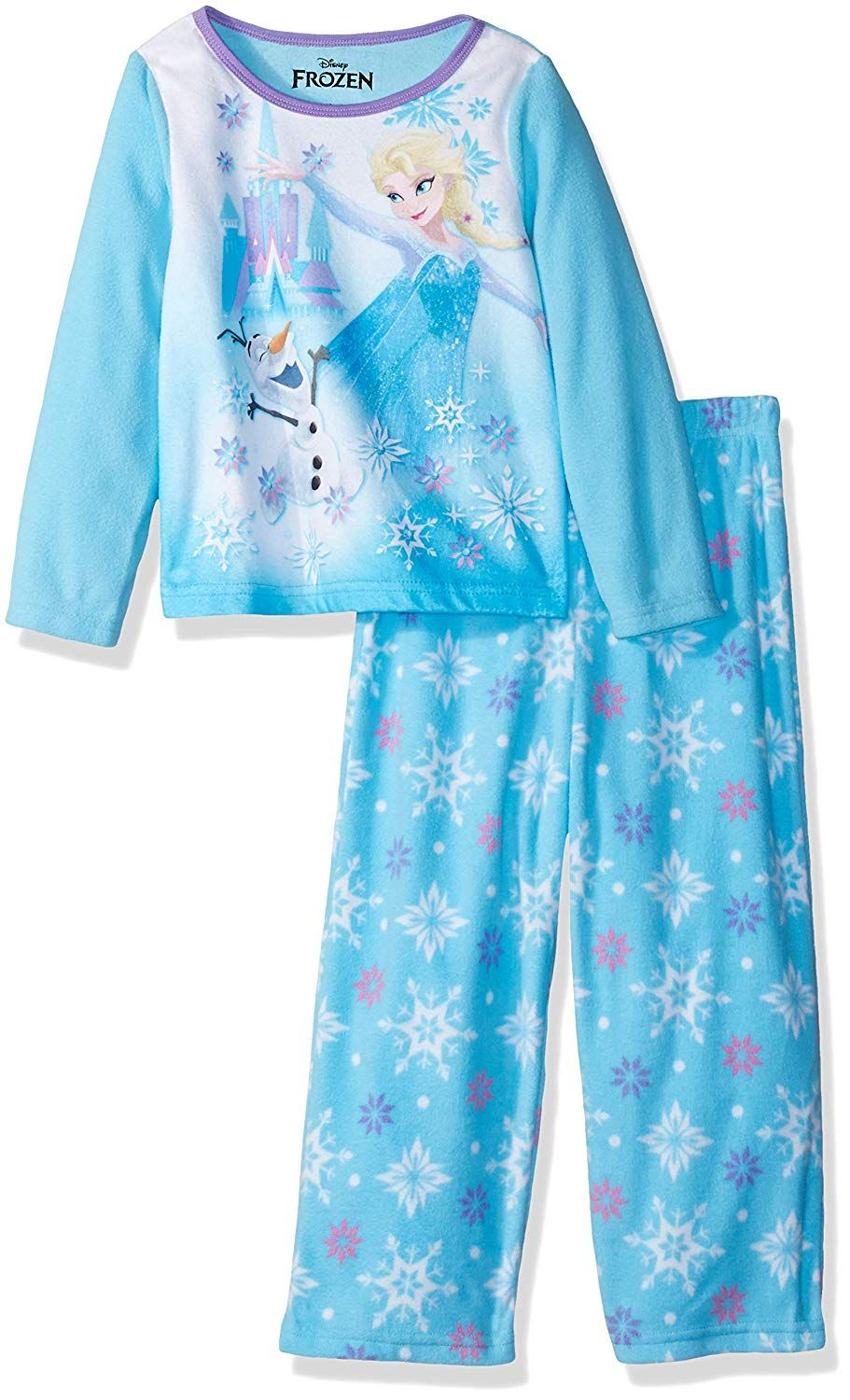 6f8fa769f8e2 Disney Girls  Frozen Elsa 2-Piece Fleece Pajama Set