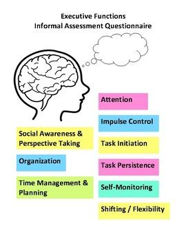 Executive Functions Informal Assessment Questionnaire Executive Functioning Informal Assessment Executive Functioning Skills