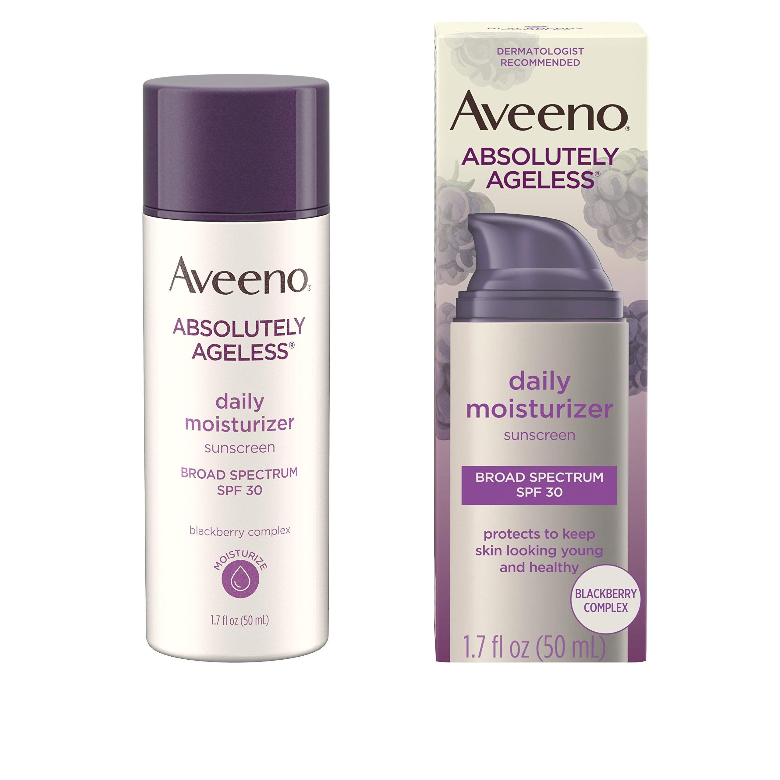 Aveeno moisturizer antioxidant rich hypoallergenic non