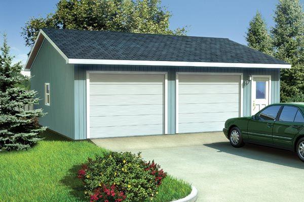 Ranch traditional garage plan 6011 garage plans roof for 4 door garage plans