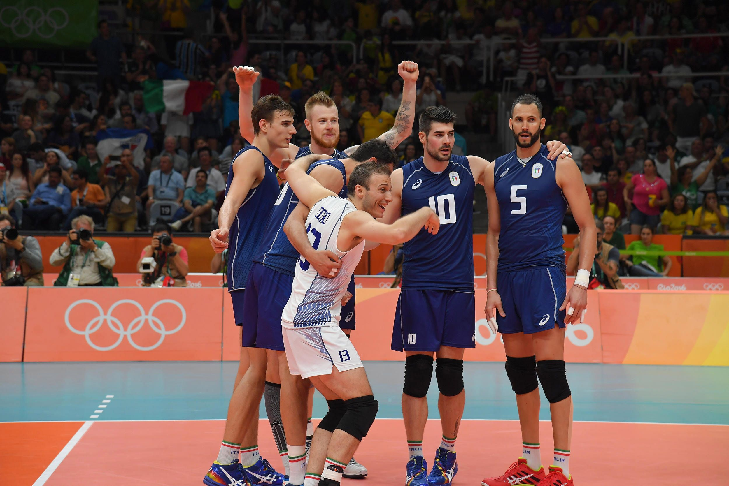 Team Italy Celebrate Their Victory Against Iran In 2020 Volleyball Victorious Celebrities