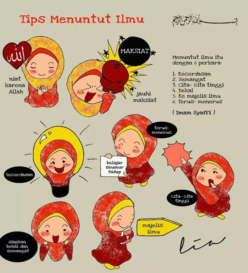 Koleksi 64  Gambar Animasi Muslimah Belajar  Free