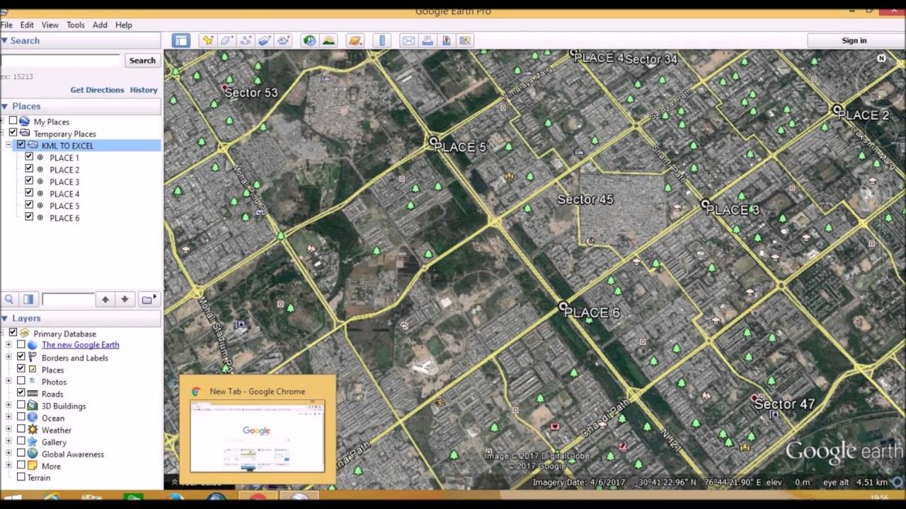 Extract Geographic Coordinate (Lat/long) from Google earth (KML to