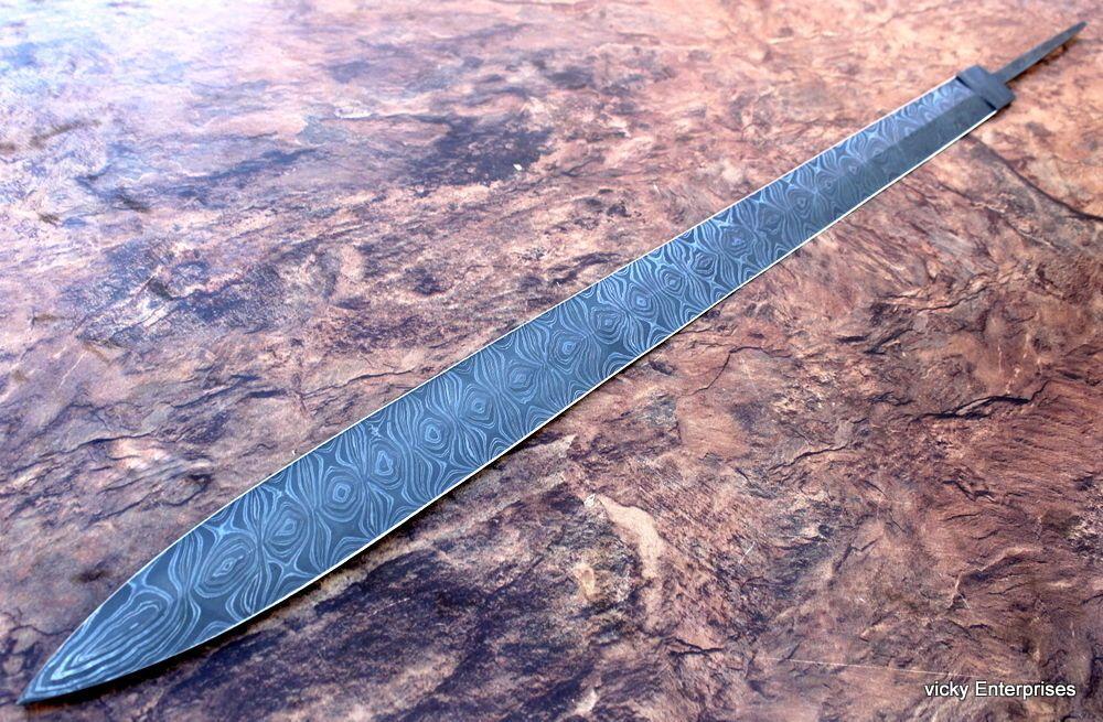 Damascus Knife Custom Handmade 35 Inches Celtic Sword Blank Blade Damascus Steel Sword Celtic Sword Knife