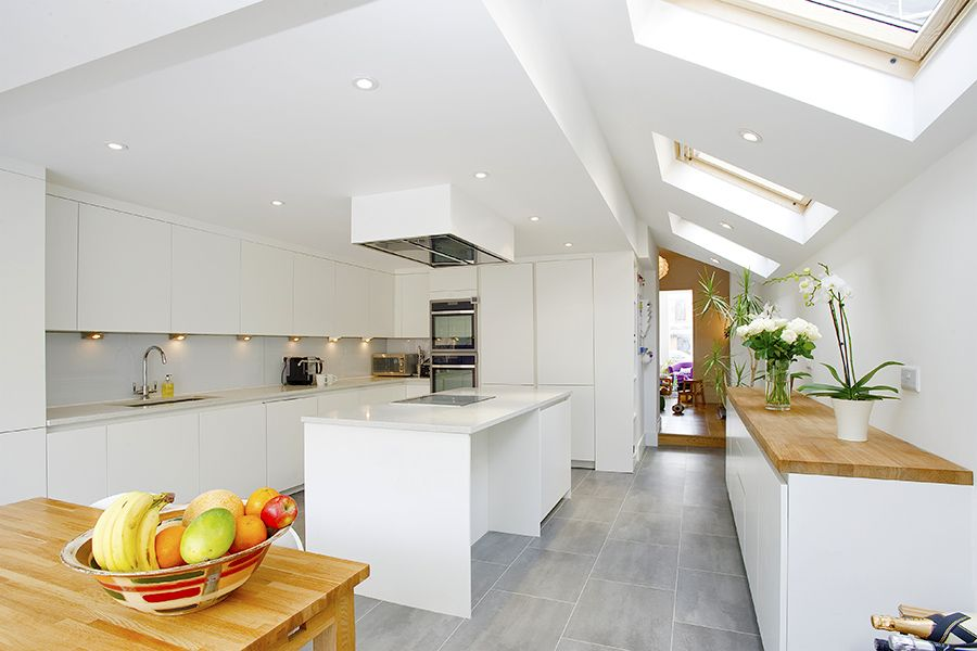 White Kitchen Extensions islington, side extension, kitchen extension, victorian terraced