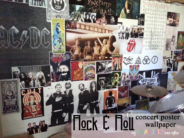 Rock N Roll Concert Poster Wallpaper