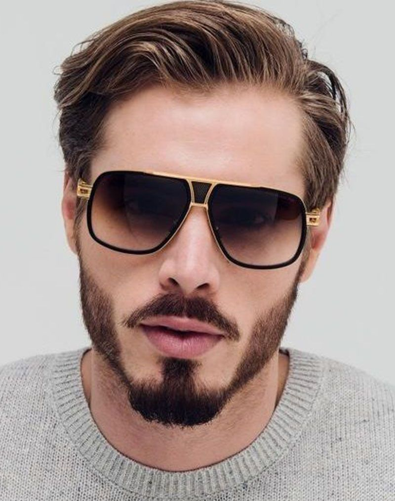 bb652cd5a35d Large Square Aviator Grandmaster Metal Bar Designer Men Retro Fashion  Sunglasses