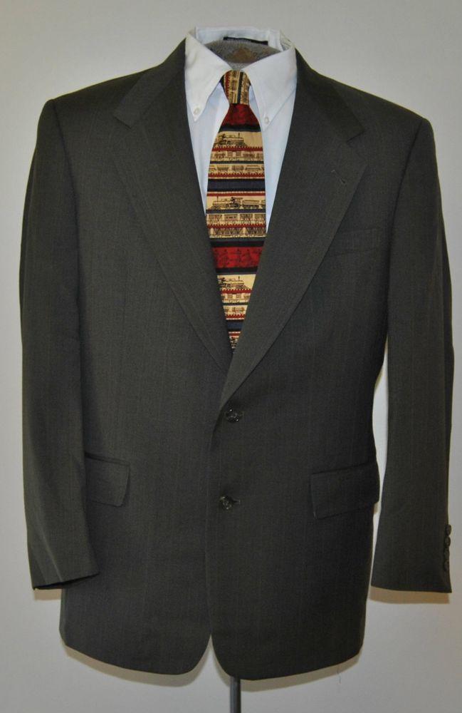 Hart Schaffner Marx 39 R Mens Blazer Gray Two Button Virgin Wool Sport Coat  #HartSchaffnerMarx #TwoButton free shipping auction starting at$19.99