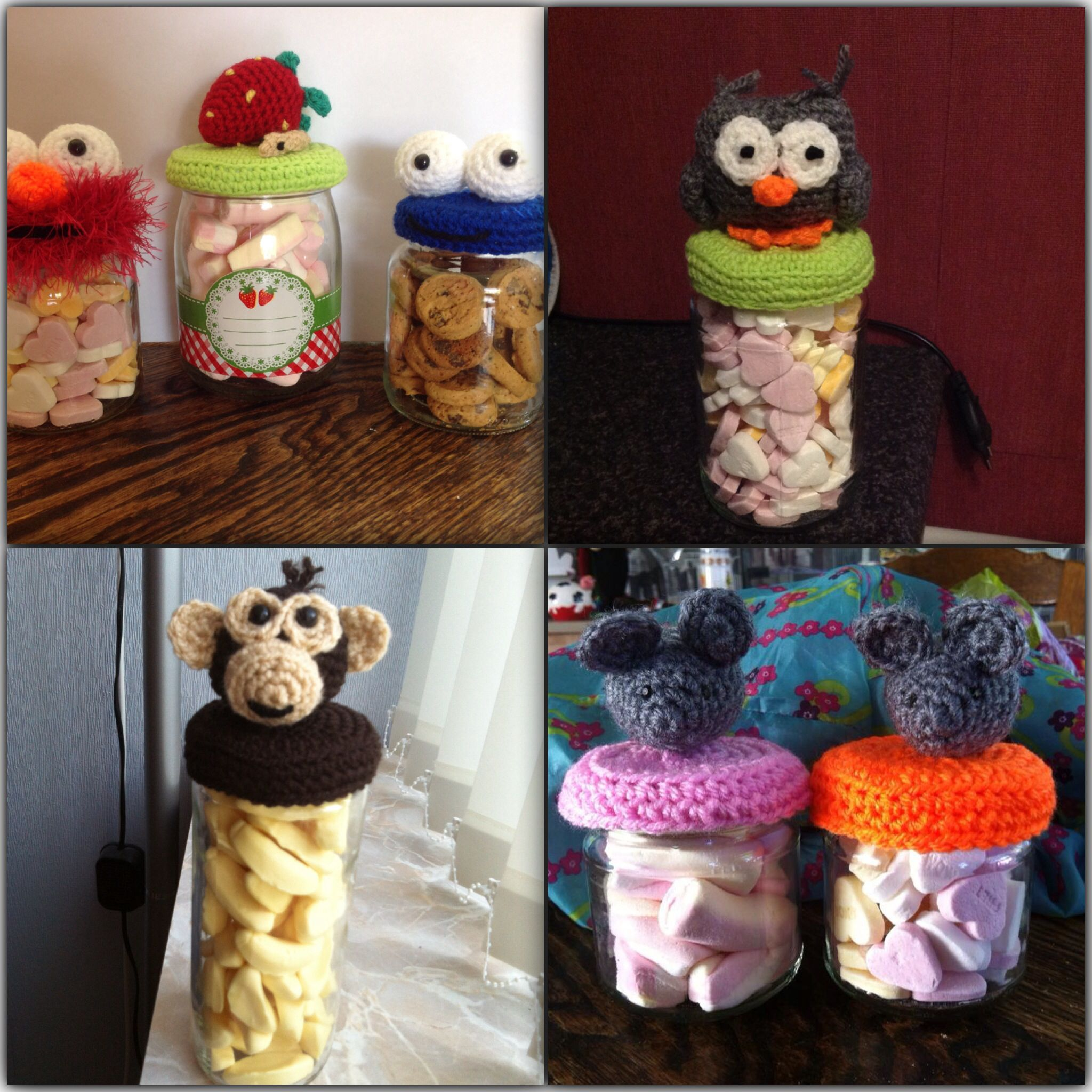 Snoep Potjes Haken Snoeppotjes Pinterest Crochet Crochet
